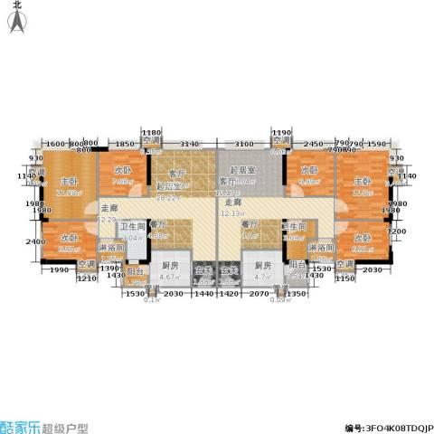 滨江瑞城6室0厅2卫2厨133.01㎡户型图