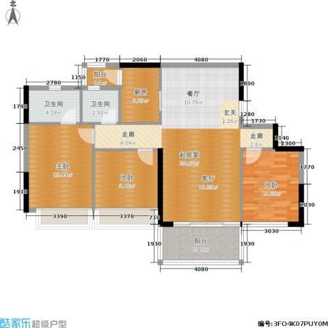 佳大银湾3室0厅2卫1厨113.00㎡户型图