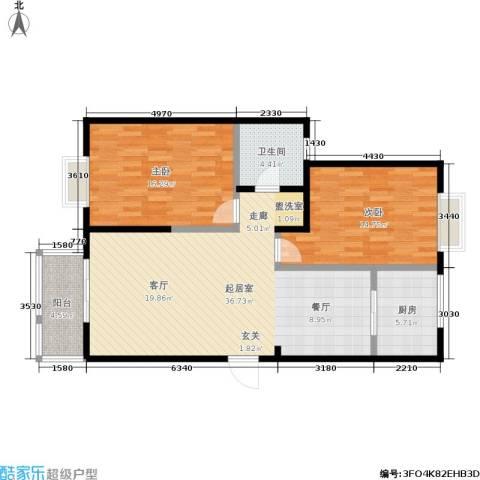 紫薇家天下2室0厅1卫1厨92.00㎡户型图