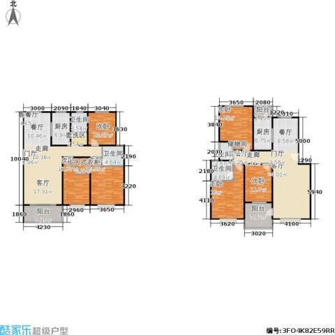 滨江美寓6室2厅4卫2厨214.28㎡户型图