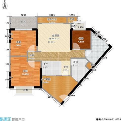 滨江瑞城3室0厅1卫1厨90.00㎡户型图
