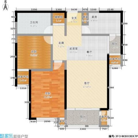 紫薇家天下2室0厅1卫1厨95.00㎡户型图