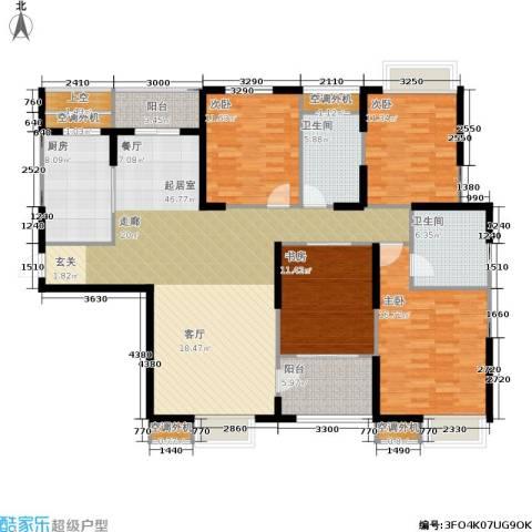 枫林意树4室0厅2卫1厨172.00㎡户型图