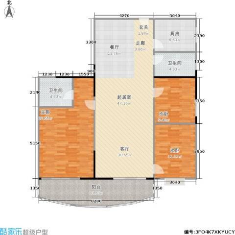 港城花园3室0厅2卫1厨141.00㎡户型图