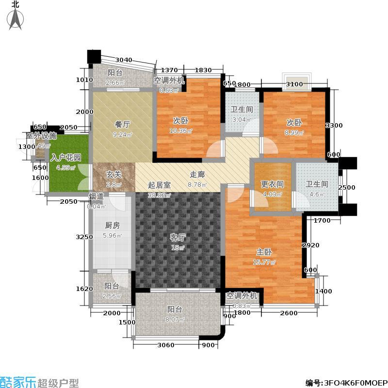 融科紫檀135.00㎡融科紫檀户型图三室两厅两卫(1/1张)户型10室