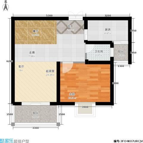 昆明花园1室0厅1卫1厨63.00㎡户型图