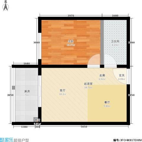 紫薇家天下1室0厅1卫1厨44.00㎡户型图