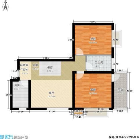 黄金嘉园2室0厅1卫1厨93.00㎡户型图