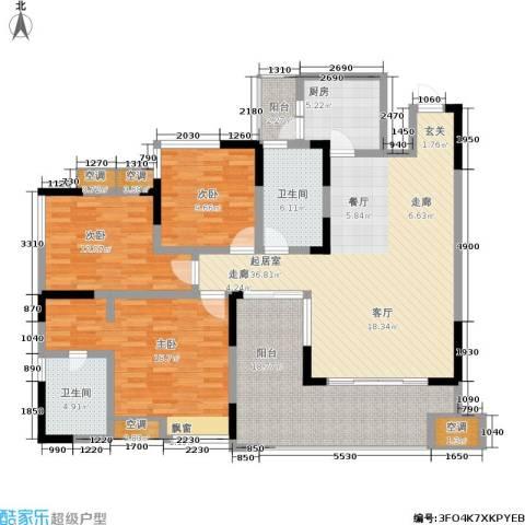蔚蓝时光3室0厅2卫1厨118.04㎡户型图