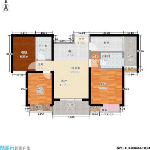 紫薇希望城3室0厅2卫1厨103.00㎡户型图