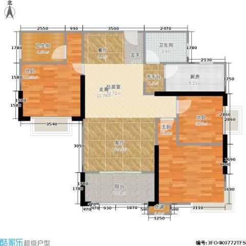 滨江瑞城3室0厅2卫1厨103.00㎡户型图