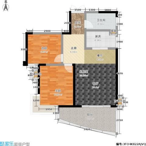 天健芙蓉盛世2室0厅1卫1厨103.00㎡户型图