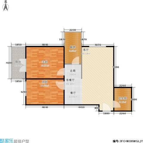 澳城大厦2室1厅1卫1厨96.28㎡户型图