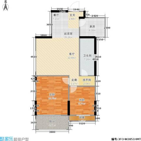 金色阳光花园2室0厅1卫1厨88.00㎡户型图