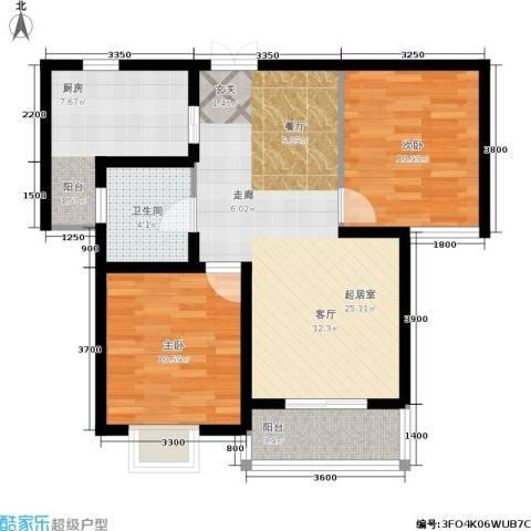 昆明花园2室0厅1卫1厨82.00㎡户型图