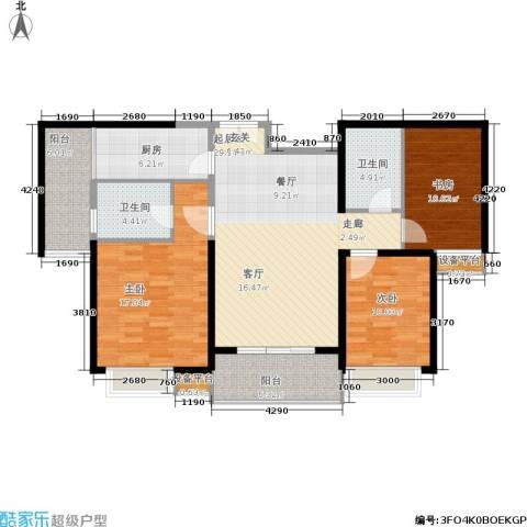 紫薇希望城3室0厅2卫1厨108.00㎡户型图