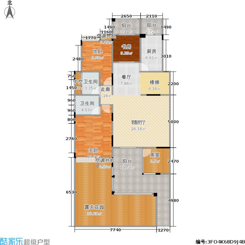 曦圆柳镇114.50㎡A1-1 三室两厅 114.5平米户型3室2厅2卫