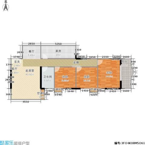 天赐福地3室0厅1卫1厨129.00㎡户型图
