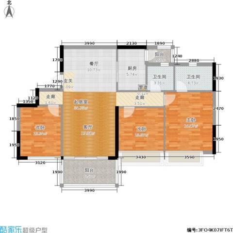 佳大银湾3室0厅2卫1厨112.00㎡户型图