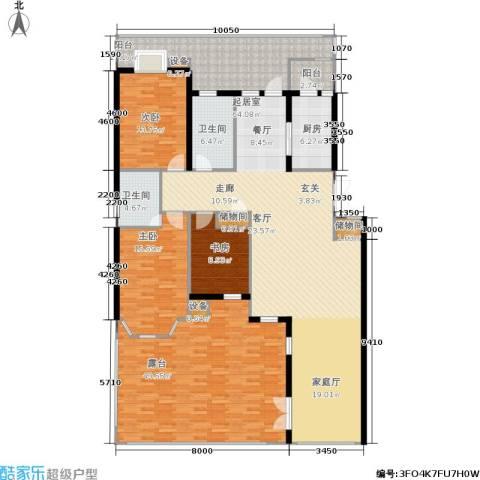 香格里拉3室0厅2卫1厨185.98㎡户型图