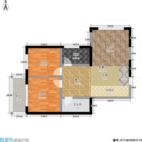 华龙佳园2室1厅1卫1厨92.00㎡户型图