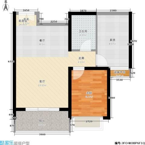 紫薇希望城1室0厅1卫1厨71.00㎡户型图