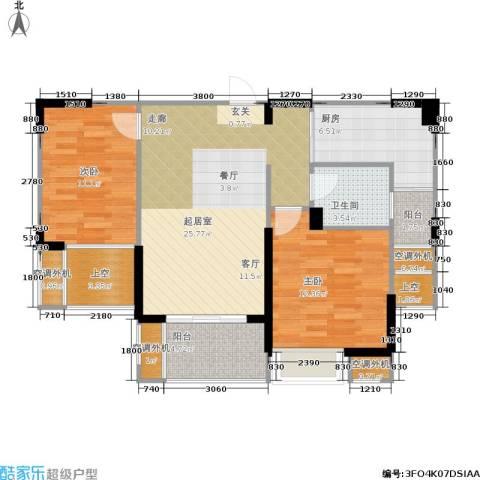 枫林意树2室0厅1卫1厨87.00㎡户型图