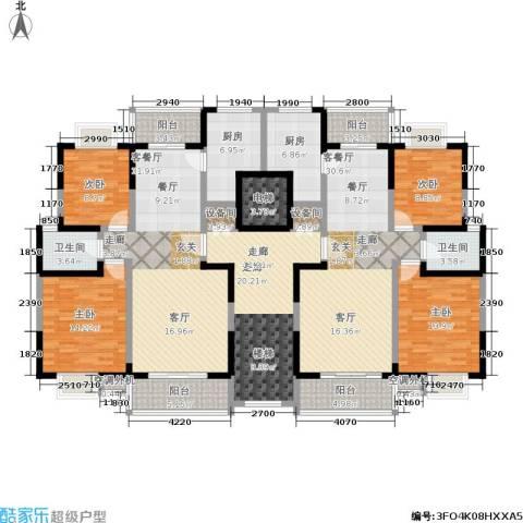 中天花园4室2厅2卫2厨172.72㎡户型图