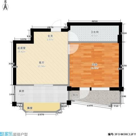 深蓝半英里1室0厅1卫1厨48.00㎡户型图