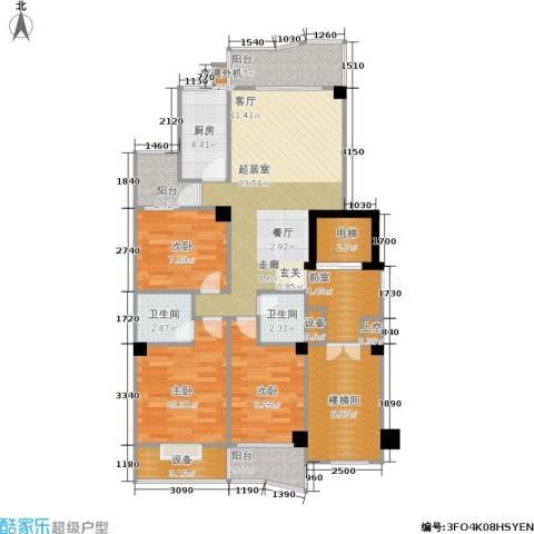 香江世纪名城3室0厅2卫1厨101.00㎡户型图