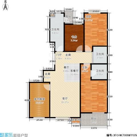 京鲁山庄3室1厅3卫0厨133.00㎡户型图