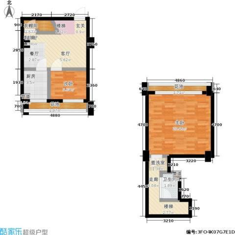 迪赛明天广场2室1厅1卫1厨88.00㎡户型图