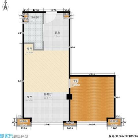 东城国际公寓1室1厅1卫0厨69.00㎡户型图