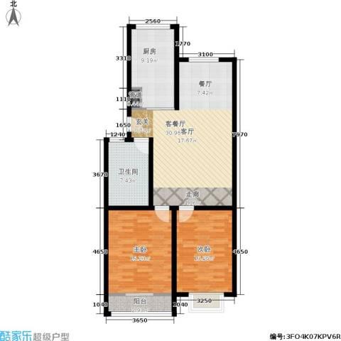 御景山庄2室1厅1卫1厨79.45㎡户型图