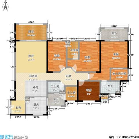 锦绣银湾4室0厅3卫1厨203.00㎡户型图