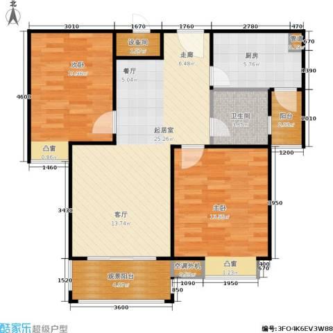 鸿基新城2室0厅1卫1厨85.00㎡户型图