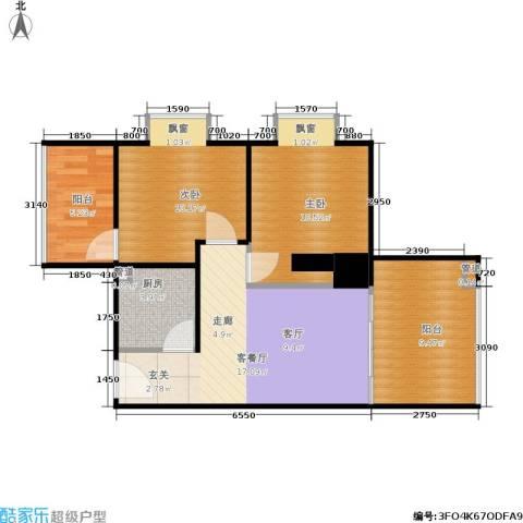 西荷丰润国际公寓2室1厅0卫1厨78.00㎡户型图