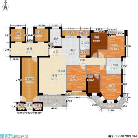 半山御景5室0厅2卫1厨196.23㎡户型图