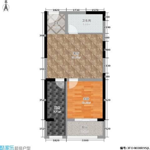 华龙佳园1室1厅1卫1厨69.00㎡户型图