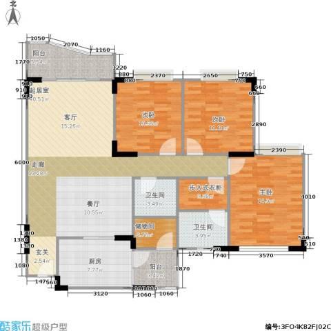 嘉新桃花里3室0厅2卫1厨123.00㎡户型图