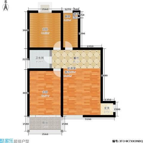 蔚蓝印象2室0厅1卫1厨85.00㎡户型图