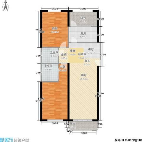 荷兰庄园2室0厅2卫1厨103.58㎡户型图