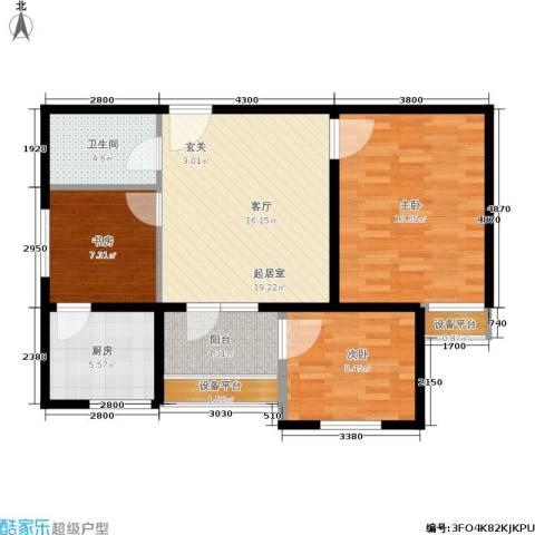万华园琳苑小区3室0厅1卫1厨78.00㎡户型图