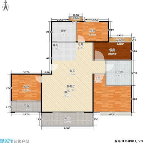 东方星家园4室1厅1卫1厨150.00㎡户型图