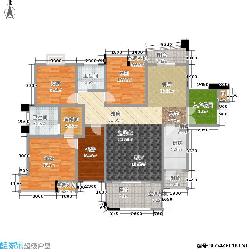 融科紫檀158.00㎡融科紫檀户型图39号栋D24室2厅2卫(4/8张)户型4室2厅2卫