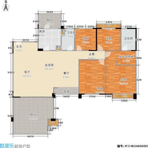 华南碧桂园4室0厅2卫1厨200.00㎡户型图