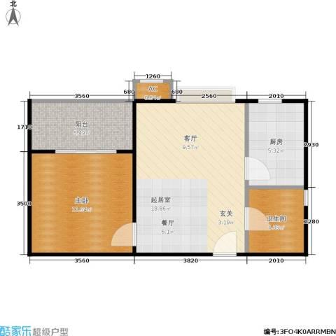 市政馨苑1室0厅1卫1厨49.00㎡户型图