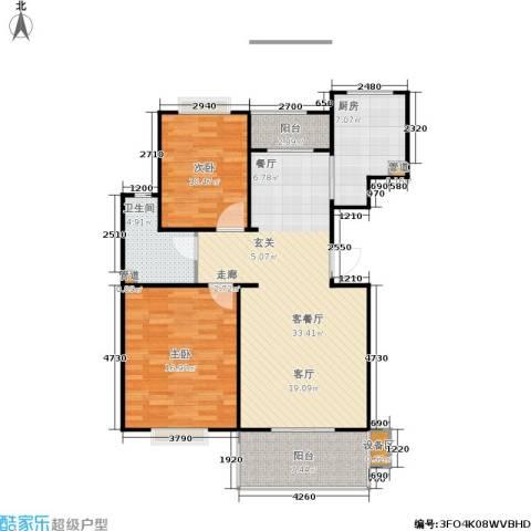 世家星城2室1厅1卫1厨83.98㎡户型图