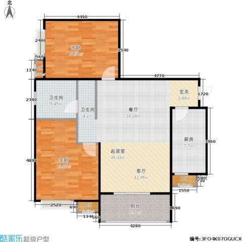 市政馨苑2室0厅1卫1厨118.00㎡户型图