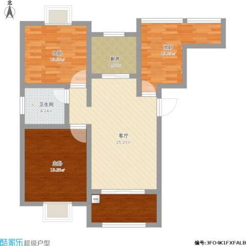 御景龙湾3室1厅1卫1厨124.00㎡户型图